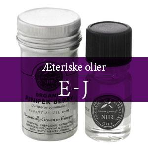 Æteriske olier E-J