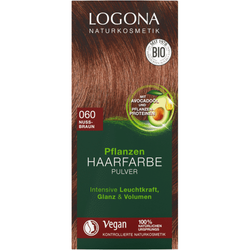 hair color powder nøddebrun logona