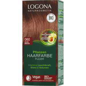 herbal hair color powder nøddebrun logona