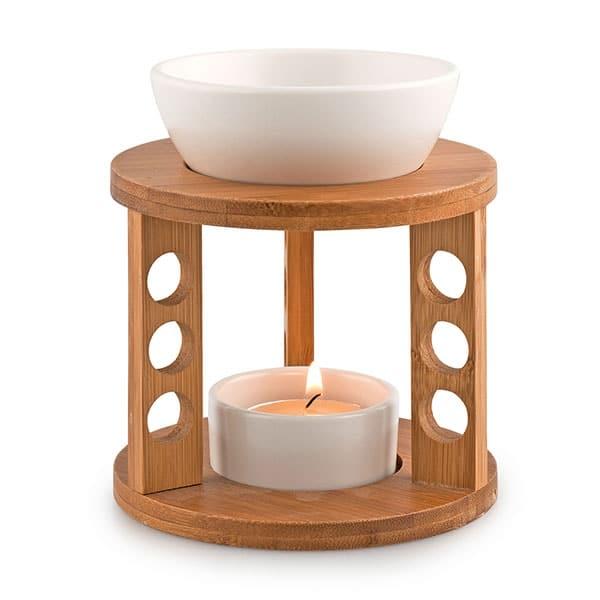 Pajoma duftlampe bambus og keramik