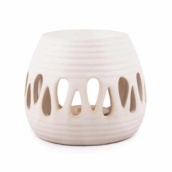 Pajoma duftlampe hvid keramik