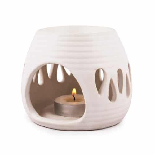 pajom duftlampe hvid keramik