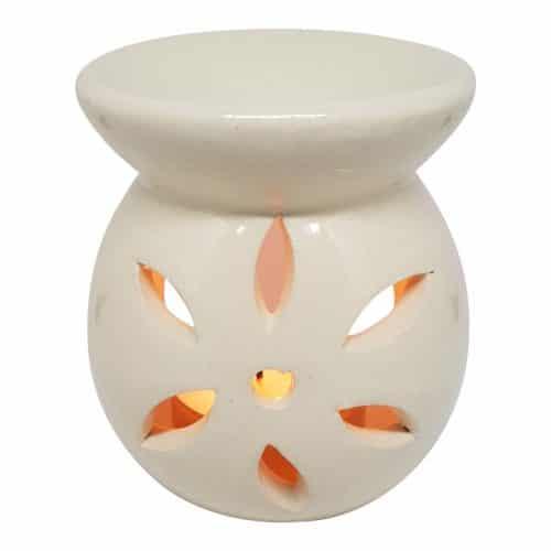 duftlampe creme keramik