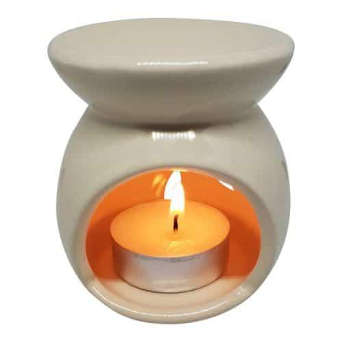 duftlampe creme keramik aromalampe