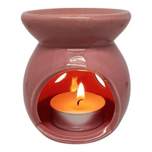 duftlampe i rosa keramik