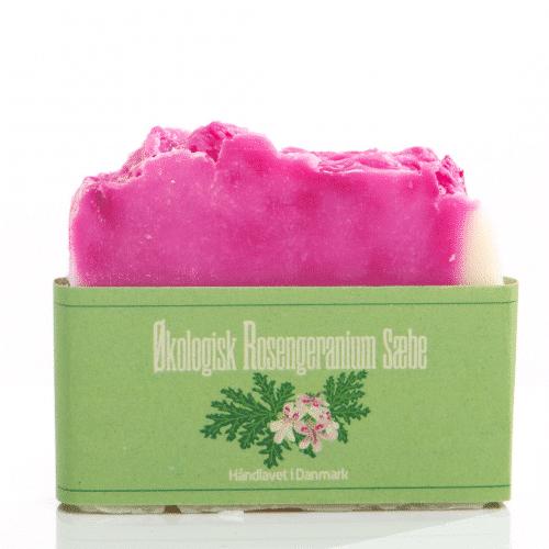økologisk sæbe med rosengeranium