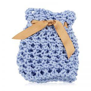 sæbepose i økologisk bomuld blå