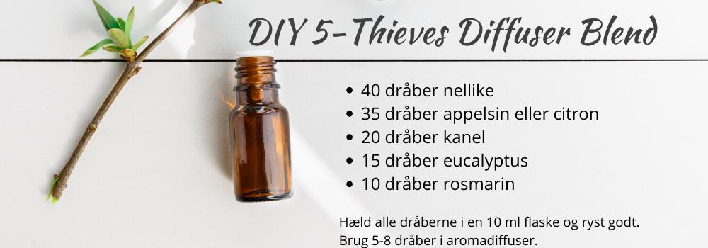 5-thieves diffuser blend æteriske olier