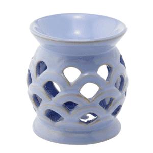 duftlampe blå keramik