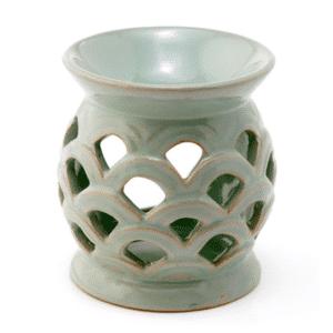 mimie duftlampe grøn keramik