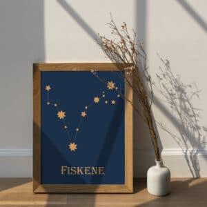 HistoryStars Fiskene stjernetegnsplakat