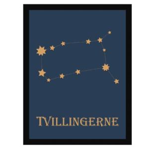 HistoryStars tvillingerne stjernetegnsplakat